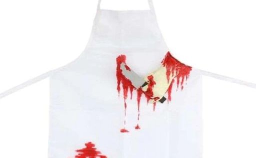 Kup Teraz Na Allegro Pl Za 13 90 Zl Fartuch We Krwi Makabryczny Rzeznik Halloween