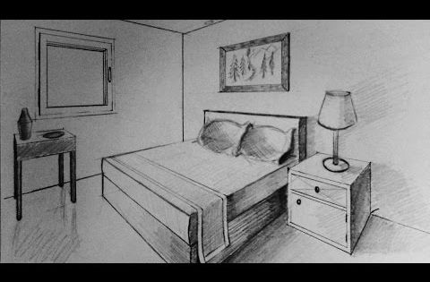 Dessiner en perspective int rieure youtube art pinterest perspective dessiner et int rieur for Chambre en perspective lineaire