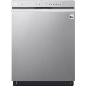 Shop Lg 24 In Stainless Steel Front Control Dishwasher With