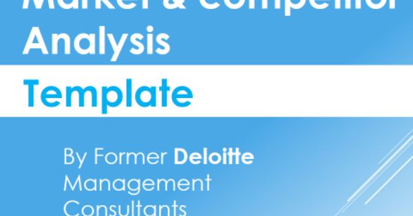 Market Competitor Analysis Template Competitor Analysis