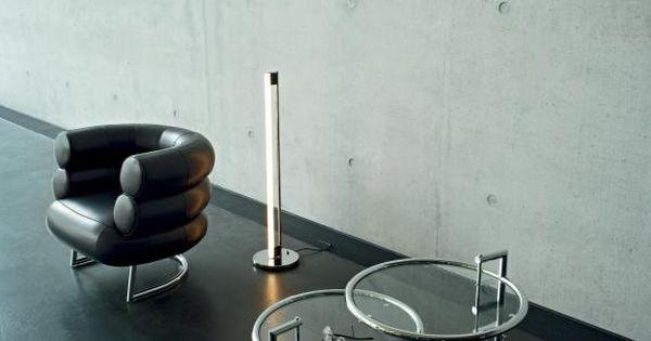 Eileen Gray and her design classics: Lounge chair Bibendum with TubeLight E1027