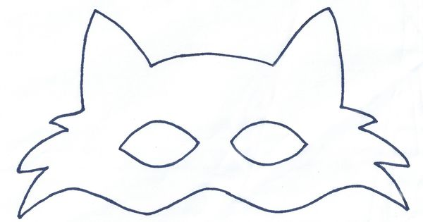 Fox mask template sewing projects pinterest mask for Fantastic mr fox mask template