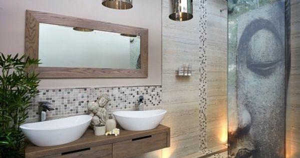 Quelle couleur salle de bain choisir 52 astuces en photos salle de bain zen miroir design - Decoratie salle de bain zen bambou ...