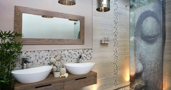 quelle couleur salle de bain choisir 52 astuces en photos salle de bain zen miroir design. Black Bedroom Furniture Sets. Home Design Ideas