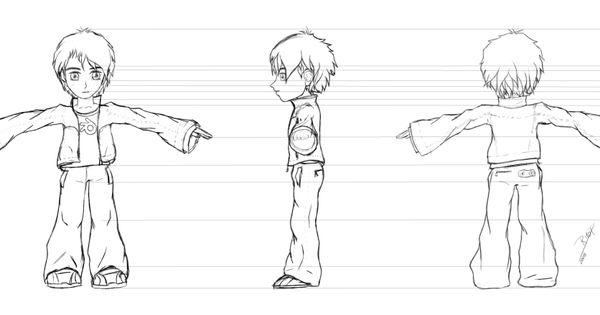 2d Character Modeling Blender : D  blender character design sketch to