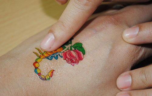 Remove temporary tattoos for Removal of temporary tattoos