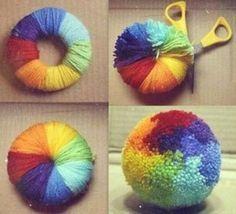 Tutos Et Diy Faire Des Pompons En Laine Faire Des Pompons Craft Fabriquer Un Pompon