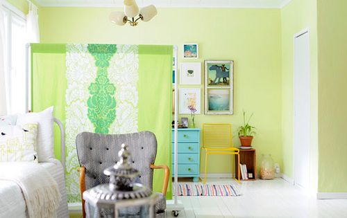 How to make your own colorful screen clothes racks for How to make your own room divider