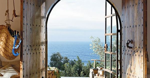 to the sea, where? Maybe Italy? places sea seaside house home dream