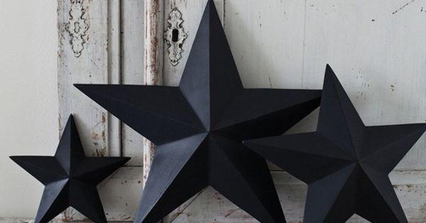 How to make: Shabby chic 3D cardboard stars from cereal boxes... christmas