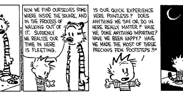 Calvin & Hobbes From The Existential Buddhist