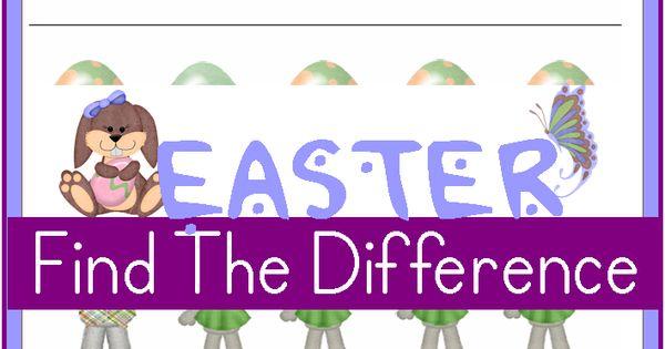 Printable Easter Worksheets: Spot the Differences | Easter Worksheets ...