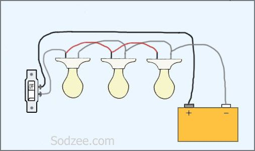 Switch For Parallel Circuit Lights Series Home Electrical Wiring Electrical Wiring Diagram Electrical Wiring
