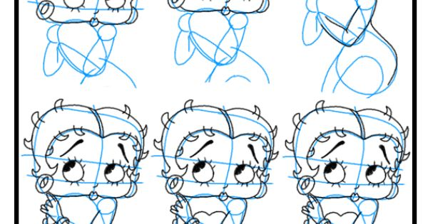 how to draw betty boop instructions