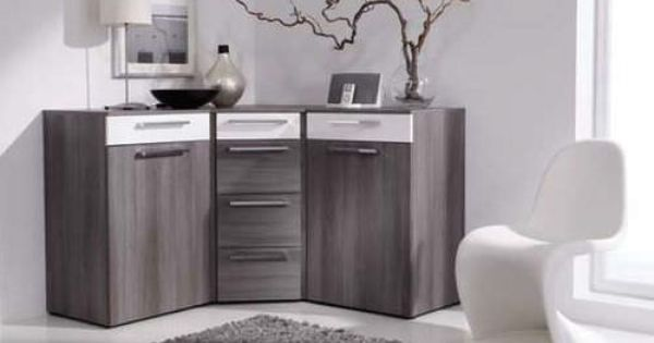 buffet contemporain d 39 angle en bois alegro basic nolte. Black Bedroom Furniture Sets. Home Design Ideas