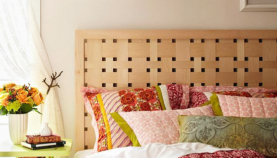 Maple veneer headboard