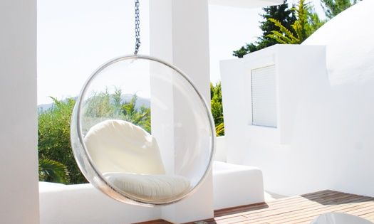 adelta bubble chair outdoor hanging chairs pinterest. Black Bedroom Furniture Sets. Home Design Ideas