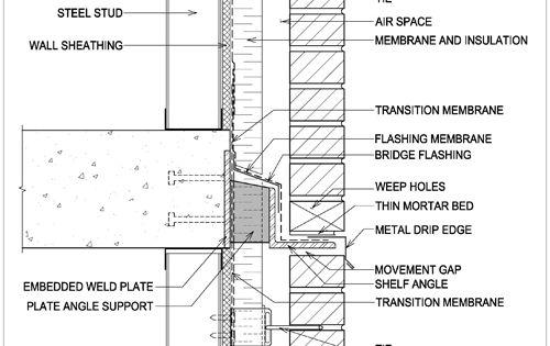 Masonry Detail S2 C Brick Detail Construction Details Architecture Brick Construction