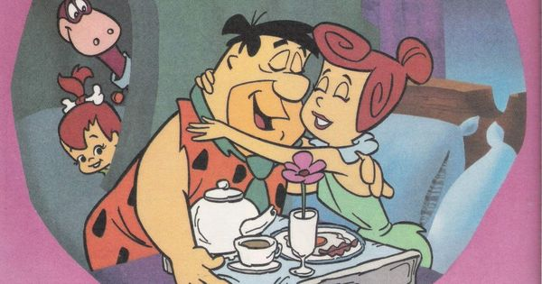 Fred and Wilma romantic. | Flintstones and the Spin-offs ...