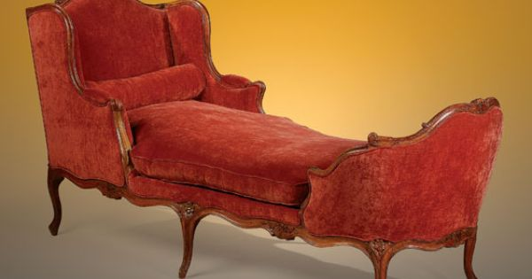 A fine 18th century carved walnut chaise lounge of the for Bernard chaise lounge