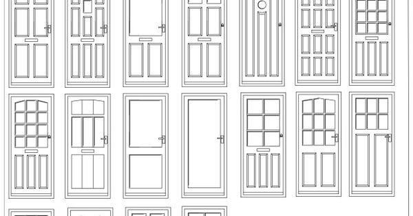 FIA Door Elevation CAD Blocks 01 2D Wireframe Cad