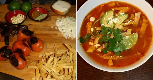 Chicken Tortilla Soup (Sopa Azteca) | Food | Pinterest | The o'jays ...