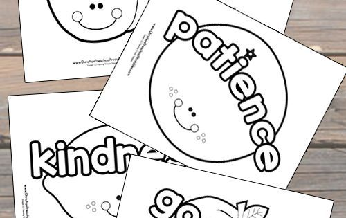 Fruits Spirit Coloring Pages: Cute Fruits Of The Spirit Bible Coloring Pages For Kids