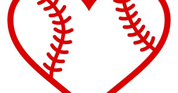 Baseball Heart Cuttable Design Cricut Decor Pinterest