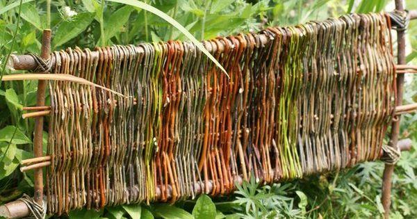 beetabgrenzung weide pinterest willow weaving and. Black Bedroom Furniture Sets. Home Design Ideas