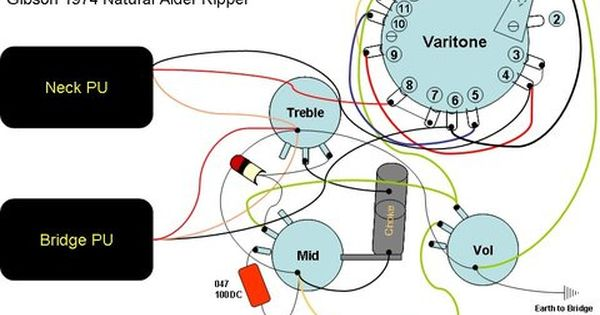 Wiring Diagram For 1974 Gibson Ripper Old Shape Alder Boody