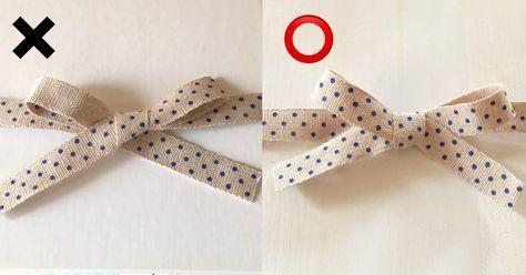 簡単きれい リボンの柄が裏返らない結び方 リボン作り