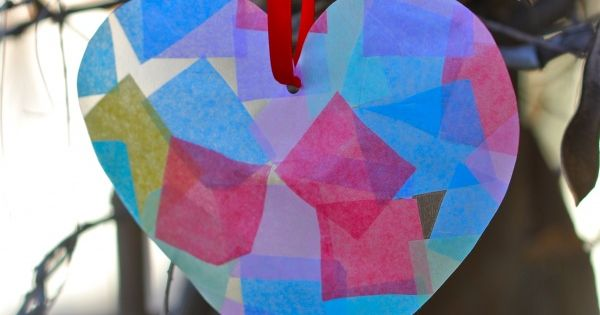 Preschool Crafts for Kids*: Valentine's Day Sun Catcher Heart Craft