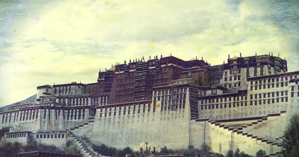 This picture doesn't do it justice. Lhasa, Tibet. The Potala Palace.