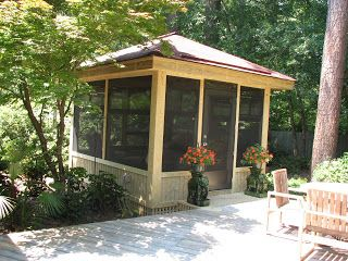 Free Standing Screen Porch Free Standing Screen Porch With 4 Track Window And Door System Free Gazebo Plans Gazebo Backyard Gazebo