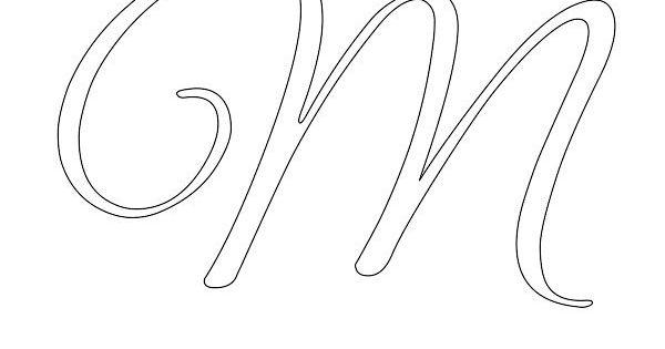 elegant cursive alphabet stencils in printable format free printable stencils com fonts and. Black Bedroom Furniture Sets. Home Design Ideas