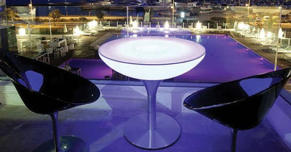 Luminaire Mobilier Lumineux A Led Table Lounge Lumineuse Rgb Sans Fil De Table Basse Lumineuse Luminaire Design Lumineux