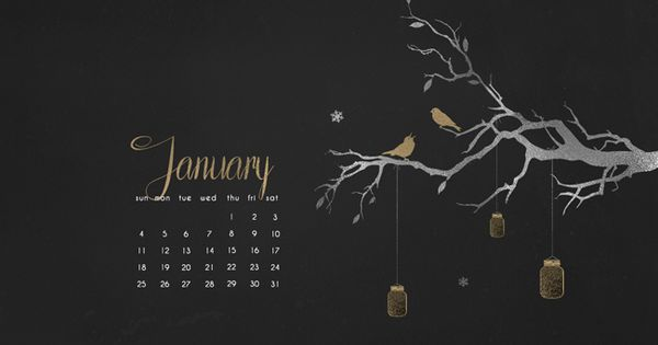 Desktop Calendar January 2018 : January desktop wallpaper calendar device decor