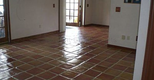 How To Refinish Old Mexican Tile Floors Mexican Tile Floor Saltillo Tile Floor Tile Floor