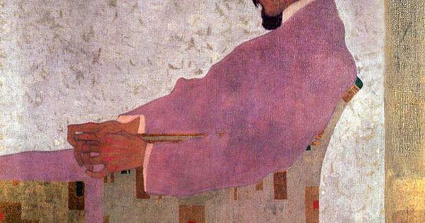 Love all things Schiele. Egon Schiele, Portrait of the Painter Anton Peschka,