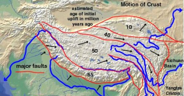 Tectonic Map Of Major Fault Bounded Blocks And Their Ages By
