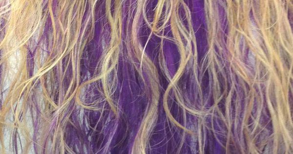 Goldwell Elumen purple lowlights with blonde highlights ...