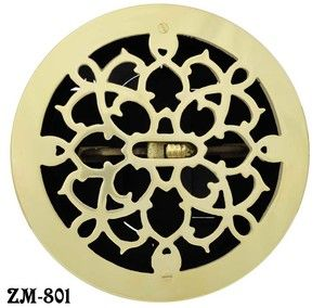 Brass Round Grates Vent Register With Damper 8 Boot 9 Outside Zm 801 Vent Registers Ceiling Vents Heating And Cooling Units