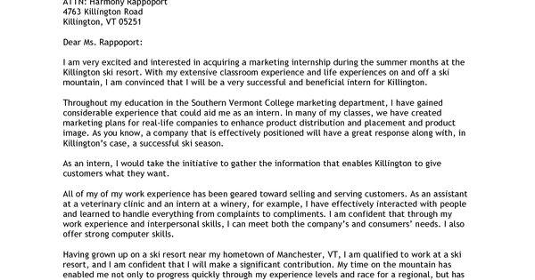 sample marketing cover letter