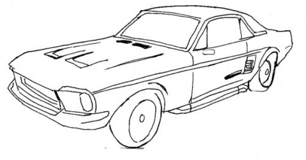 nfs ford mustang coloring pages - photo#23