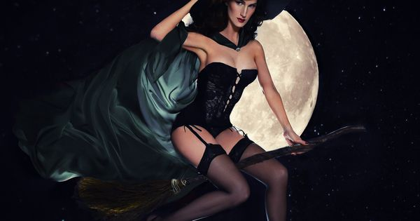 Christine H Mcconnell Hot Witch In Stockings And Corset