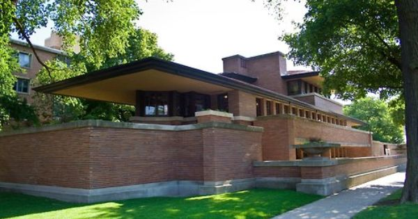 Frank Lloyd Wright Robie House In Oak Park Usa Robie House Frank Lloyd Wright Robie House Frank Lloyd Wright
