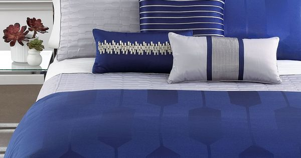 Hotel Collection Links Cobalt Bedding Collection. I Currently Have This Set And It Is Beautiful