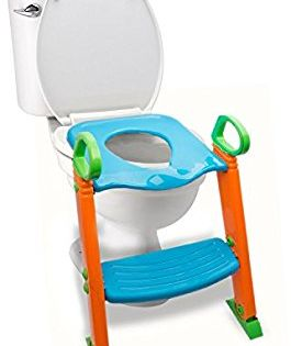Amazon Com Potty Toilet Seat With Step Stool Ladder 3 In 1 Trainer For Kids Toddlers W Handles Sturdy Comfortab Step Stool Potty Seat Potty Toilet Seat