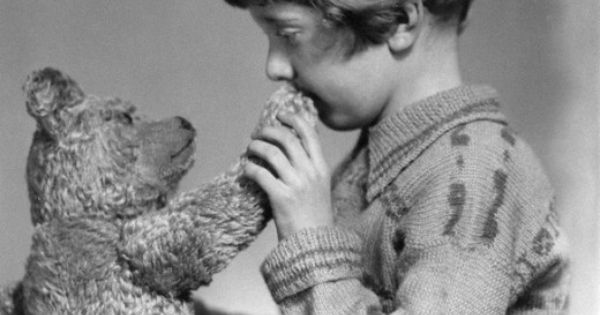 The real Winnie the Pooh and Christopher Robin, ca. 1927 History Literature