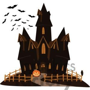 Clip Art Of Haunted House On A Hill 380790 Halloween Activities Halloween Clipart Halloween Hacks